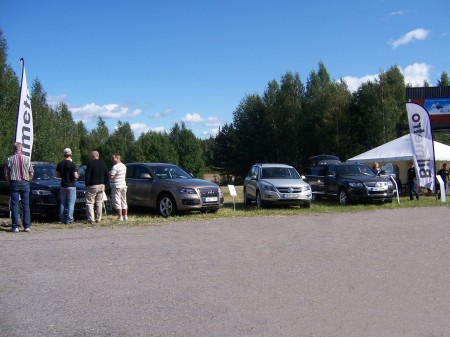 Intresset var stort för de bilar som var utställda